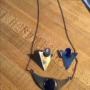 Jewelry - Sterling and Lapis necklace and earring set